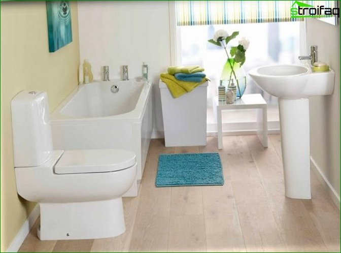 Toilet with bathtub