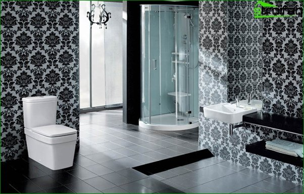 Decorating walls in the bathroom with tiles - 4