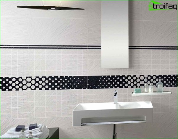Walls in the bathroom (tiles) - 5