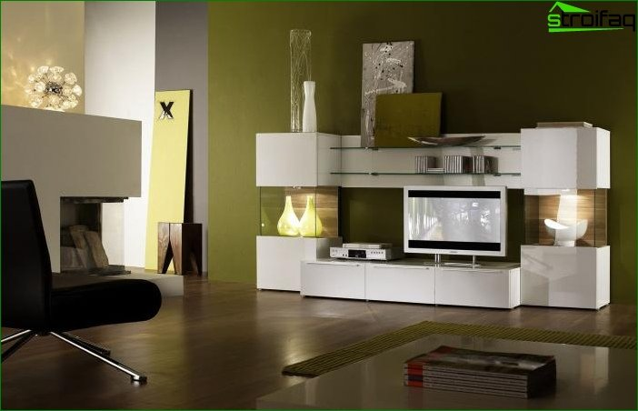 Interior design in green color - photo 1