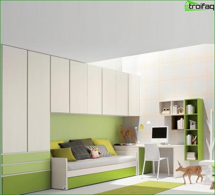 Interior design in green color - photo 2