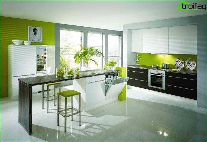 Interior design in green color - photo 4