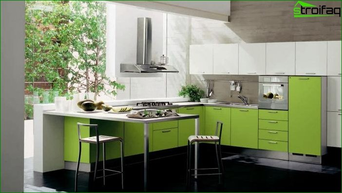Interior design in green color - photo 5