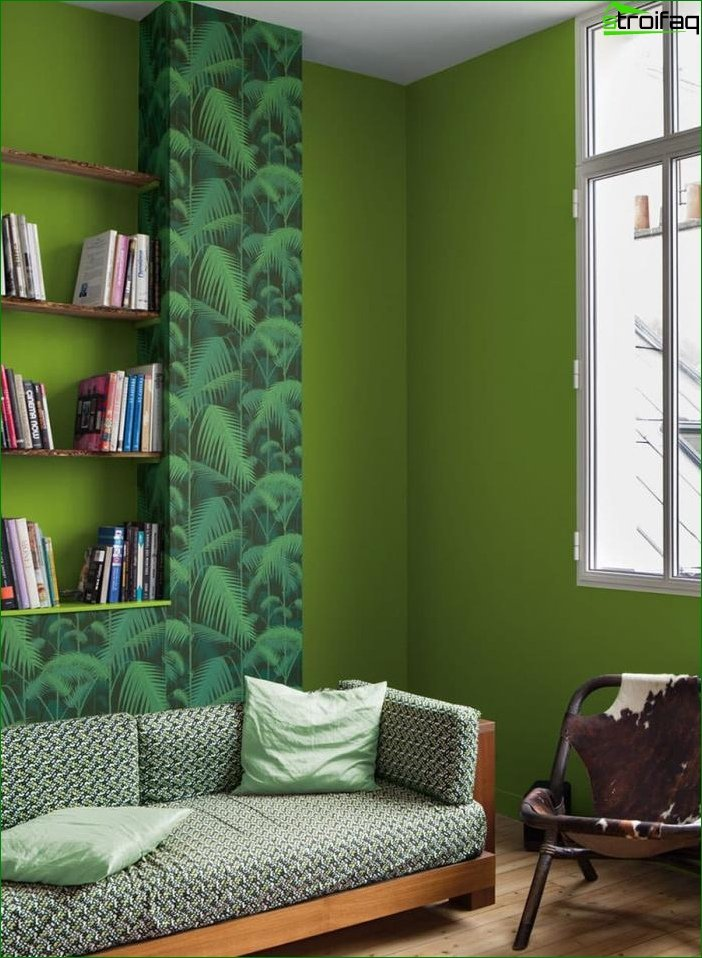 Interior design in green color - photo 6