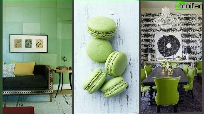 Interior design in green color - photo 7