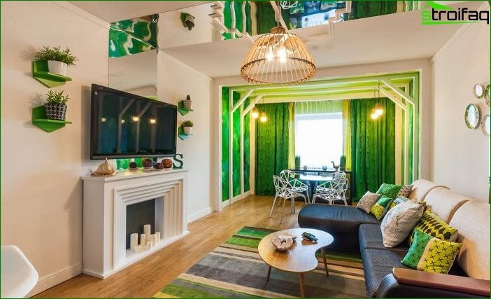 Interior design in green color - photo 8