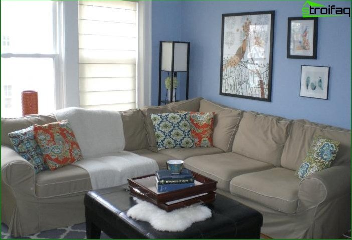Shade of Airy Blue in the interior