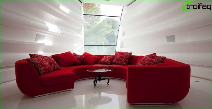 Shade Aurora Red in the interior 2