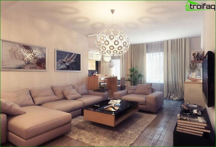 Interior design in beige tones 6