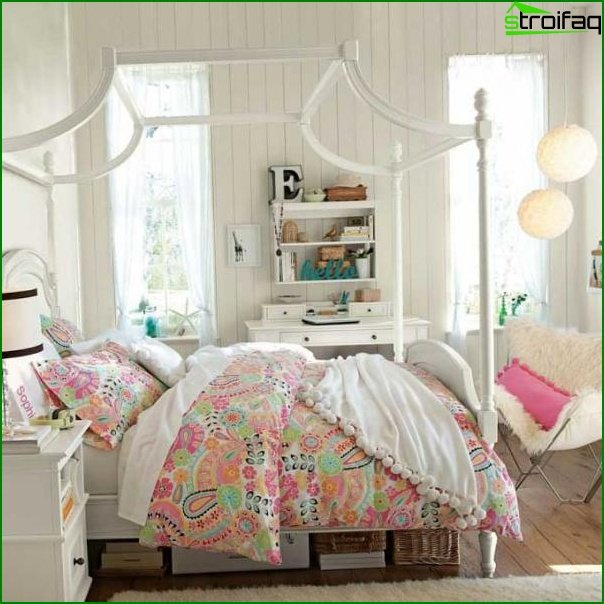 Picture of a bedroom for a girl of 12 years old