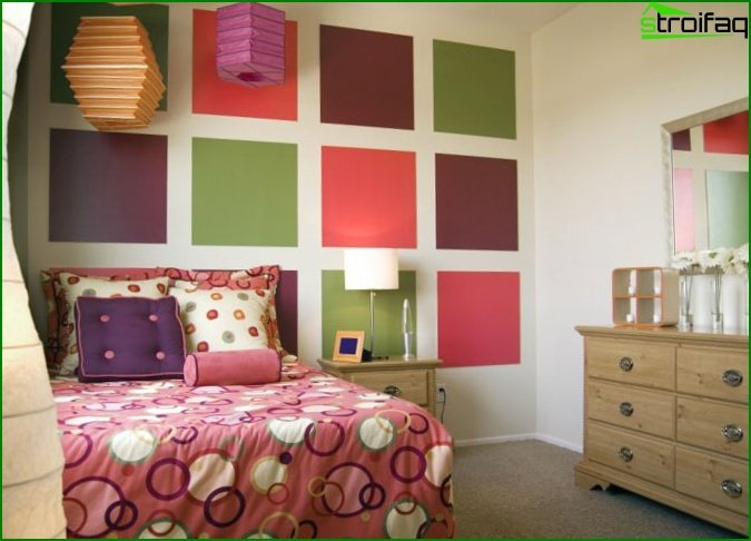 Design of a bedroom for a girl of 12 years old