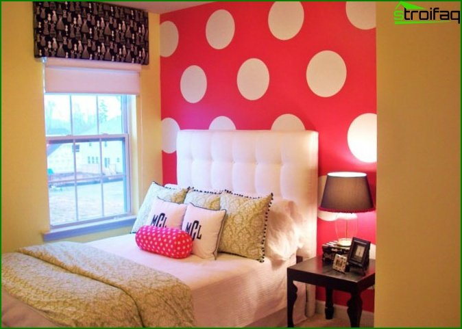 Photos of the design of a children's room