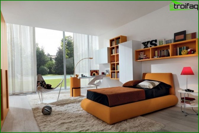 Design of a children's bedroom - photo