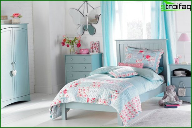 Interior of the room for a girl 10 years old