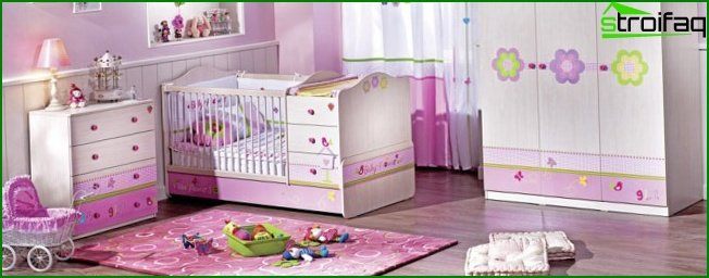 Lilac interior for children