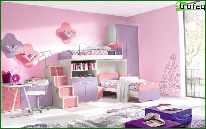 Color Prugna Per Pareti : Design delle camere per le ragazze anni foto dei
