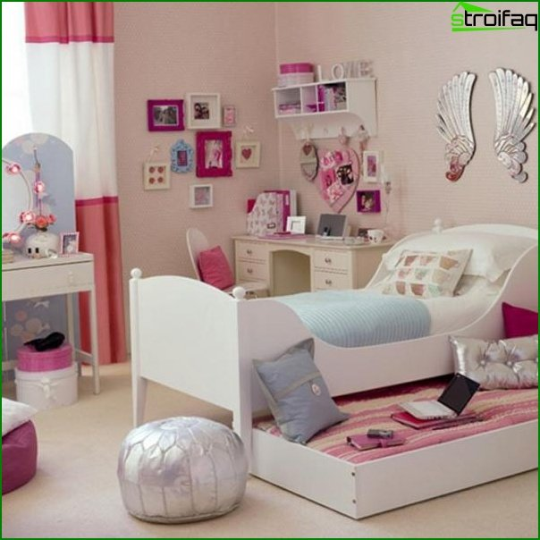 Sleeping area for a girl