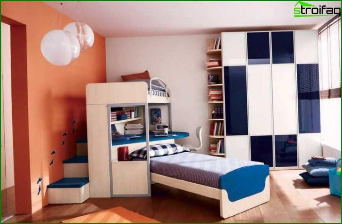 Picture of a child's room for a boy