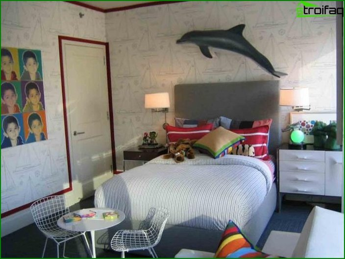 Room in a sea style - photo
