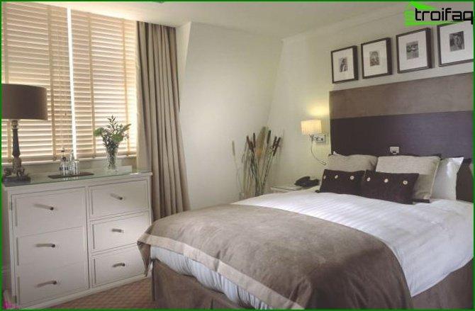 Photo of a beige bedroom