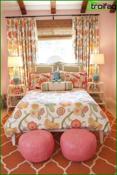 Bedroom in pink and violet shades - photo 4