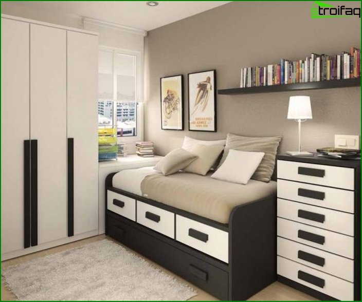 Registration of a small bedroom 12 sq.m. M for boy