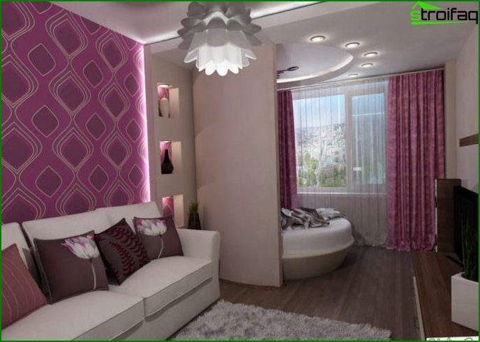 Bedroom combined with balcony or loggia - photo
