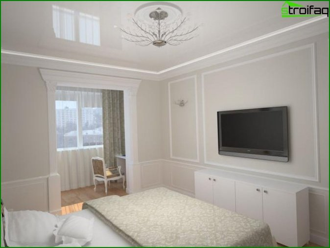 Bedroom combined with balcony or loggia - photo 1