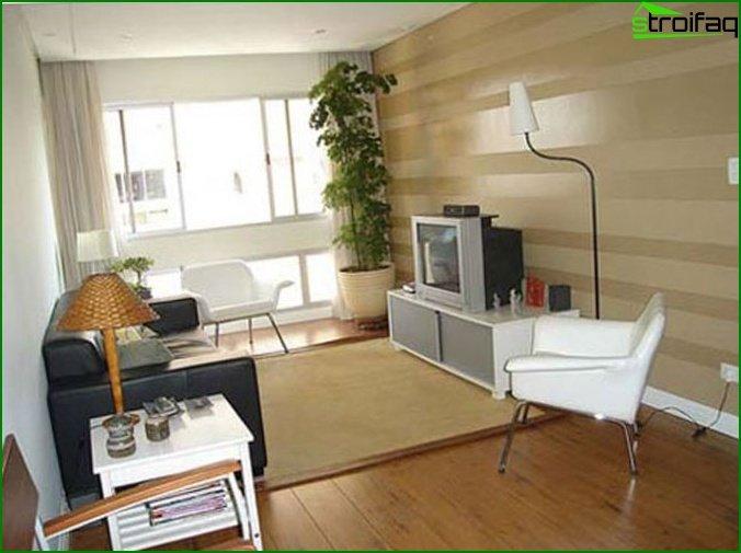 Bedroom-living room: secrets of decoration