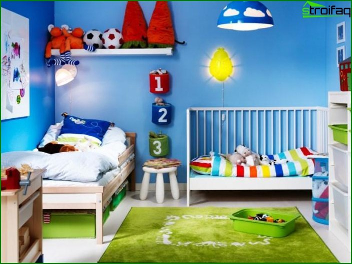 Photo of a children's room for a boy 3-5 years old