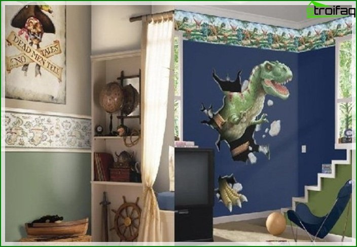 Photo of a children's room for a boy of 7-8 years old