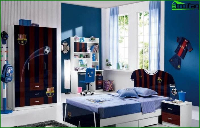 Photo of a children's room for a boy-teenager