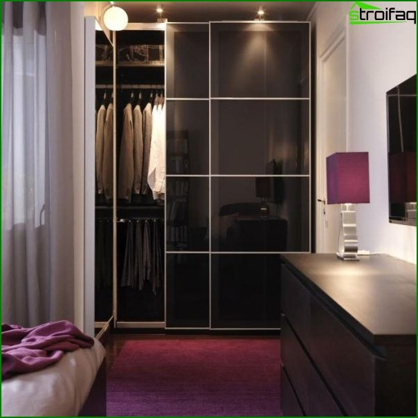 Closet in the bedroom photo