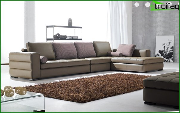 Upholstered furniture (corner sofa) - 4