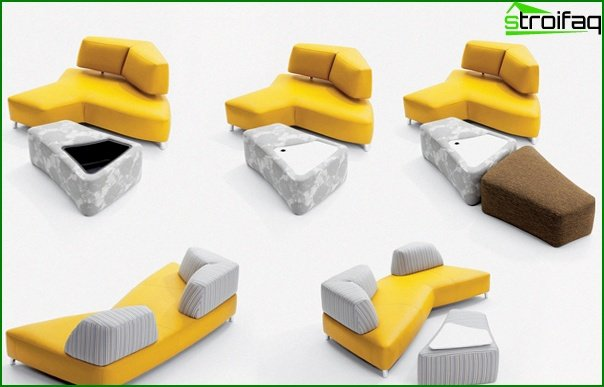 Upholstered furniture (sofa-transformer) - 1
