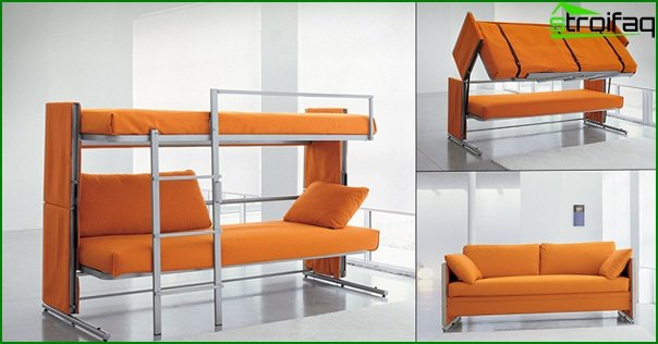 Upholstered furniture (sofa-transformer) - 2