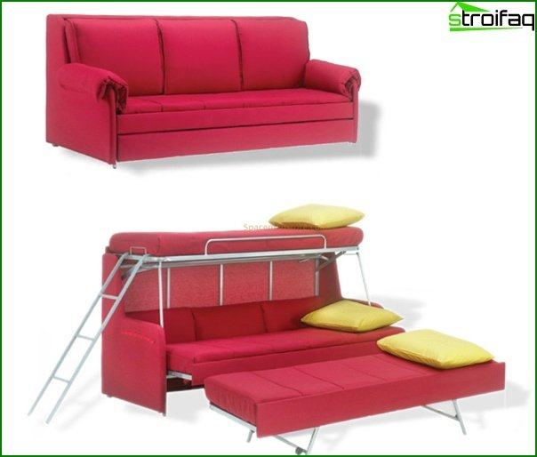 Upholstered furniture (sofa-transformer) - 4