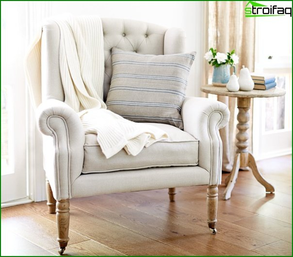 Upholstered furniture (classic armchair) - 2