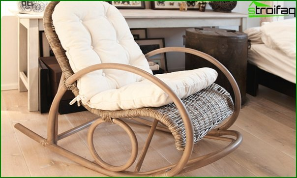 Upholstered furniture (rocking chair) - 3