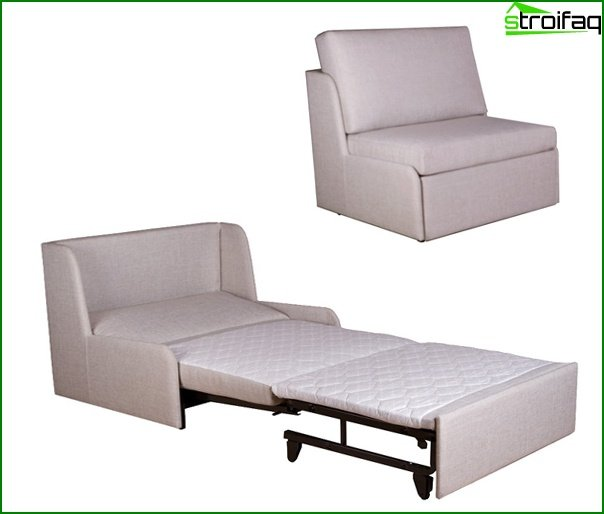 Upholstered furniture (arm-chair bed) - 2