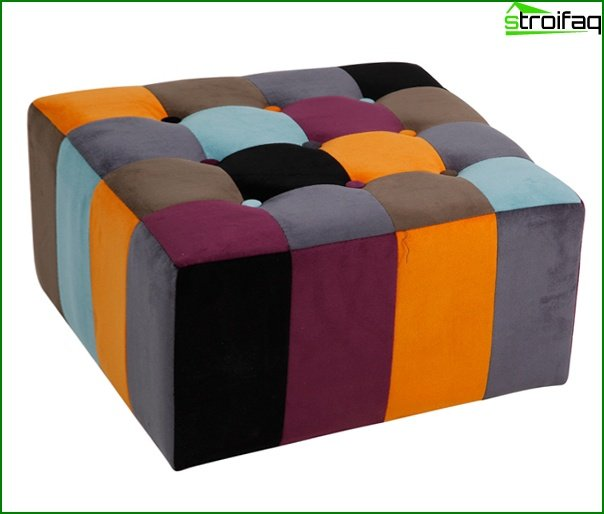 Upholstered furniture (ottoman) - 1