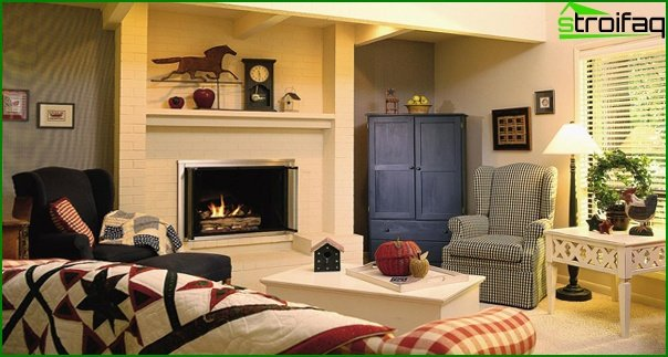 Living room furniture (fireplace) - 5