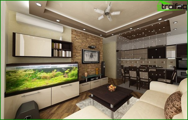 Living room furniture (aquarium) - 3