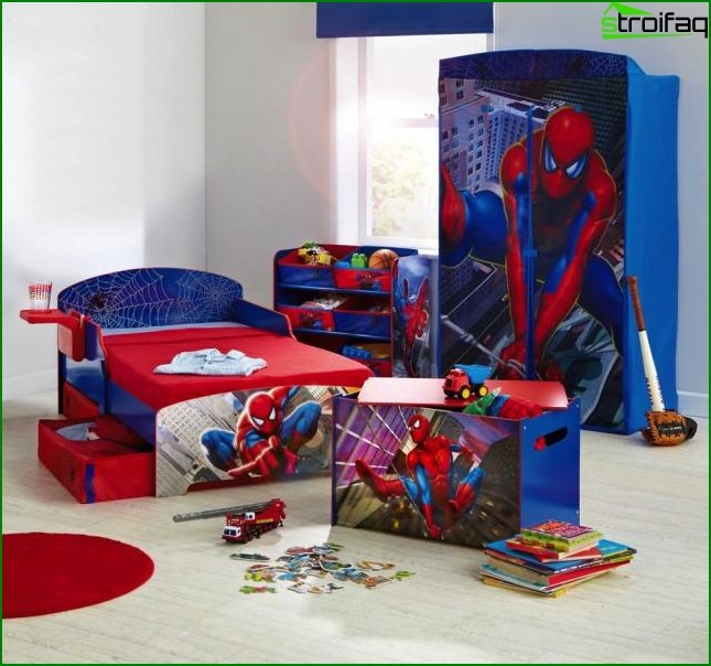 Photo of a children's room for a boy of 10-12 years old