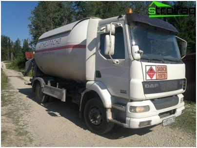 The gasification project of a private house must necessarily provide for the possibility of arranging a driveway for a gas truck equipped with a tank