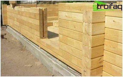 Las paredes de madera encolada no requieren acabado adicional.