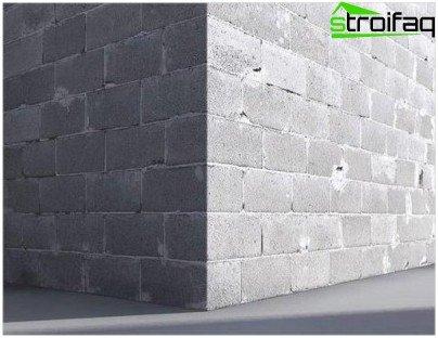 Vægge af skumblokke