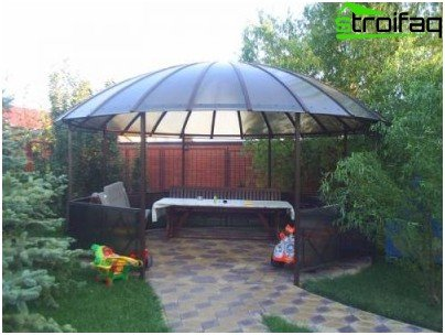 gazebo on the site