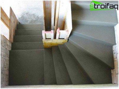 Escalera de hormigón de bricolaje
