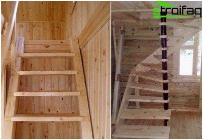 Escalera de hormigón: encofrado de tornillo